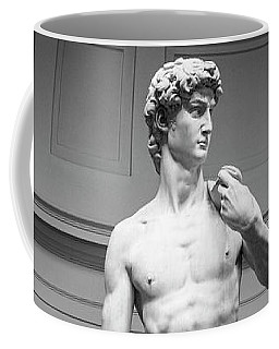 Coffee Mug featuring the photograph Michelangelo's David by Sonny Marcyan