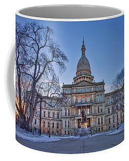 Coffee Mug featuring the photograph Michigan State Capitol by Nicholas Grunas