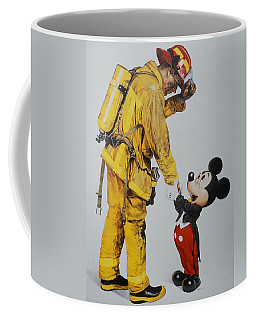 Mickey And The Bravest Coffee Mug by Rob Hans