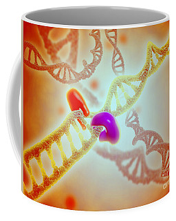Microscopic View Of Dna Binding Coffee Mug