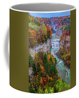 Middle Falls Of Letchworth State Park Coffee Mug