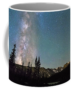 Middle Of The Night Milky Way Above The Rocky Mountains Coffee Mug