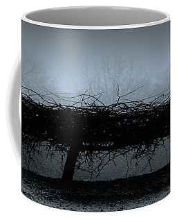 Middlethorpe Tree In Fog Blue Panorama Coffee Mug by Tony Grider