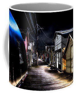 Midnight At The Boathouse Coffee Mug by William Norton