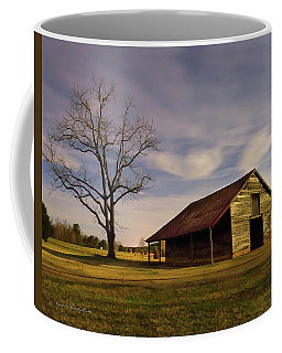 Coffee Mug featuring the photograph Midnight At The Mule Barn by George Randy Bass