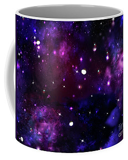 Midnight Blue Purple Galaxy Coffee Mug