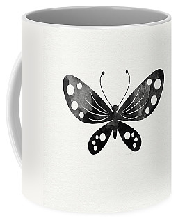 Midnight Butterfly 3- Art By Linda Woods Coffee Mug