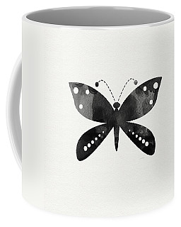 Midnight Butterfly 4- Art By Linda Woods Coffee Mug