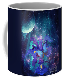 Midnight Butterfly Coffee Mug by Mo T
