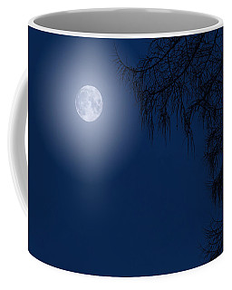 Midnight Moon And Night Tree Silhouette Coffee Mug