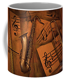 Coffee Mug featuring the photograph Midnight Music by AmaS Art