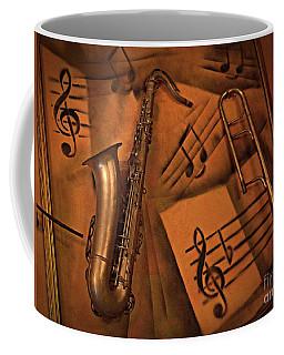 Midnight Music Coffee Mug by AmaS Art