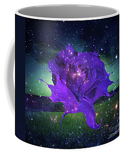 Midnight Rose Coffee Mug by Mo T