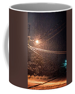 Coffee Mug featuring the photograph Midnight Snow by Mick Anderson