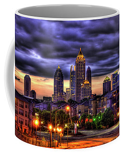 Midtown Atlanta Towers Over Atlantic Commons Art Coffee Mug
