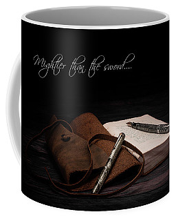 Mightier Than The Sword Coffee Mug