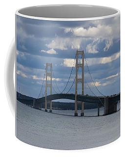 Mighty Mac The Mackinac Bridge Coffee Mug by Keith Stokes