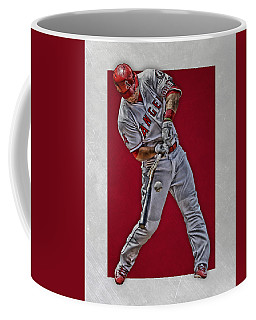 Coffee Mug featuring the mixed media Mike Trout Los Angeles Angels Art 2 by Joe Hamilton