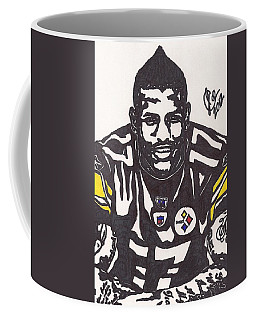 Coffee Mug featuring the drawing Mike Wallace 1 by Jeremiah Colley