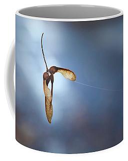 Miksang 3 Maple Seeds Coffee Mug by Theresa Tahara