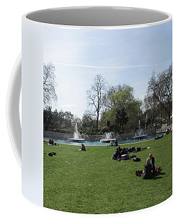Coffee Mug featuring the photograph Mild Summer Afternoon At Hyde Park Corner - London 2016 by Mudiama Kammoh