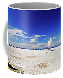 Coffee Mug featuring the photograph Miles And Miles Of White Sand by Gary Wonning