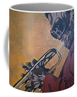 Coffee Mug featuring the painting Miles Davis by Rachel Natalie Rawlins