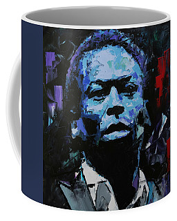Coffee Mug featuring the painting Miles Davis by Richard Day