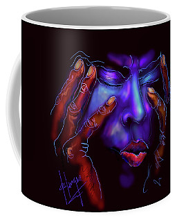 Coffee Mug featuring the painting Miles by DC Langer
