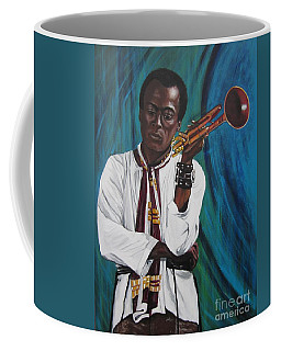 Blaa Kattproduksjoner     Miles-in A Really Cool White Shirt Coffee Mug