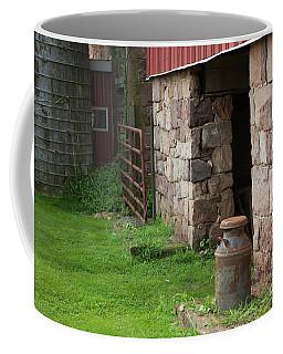 Milk Can At Stone Barn Coffee Mug