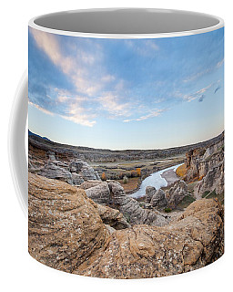 Coffee Mug featuring the photograph Milk River Sun Up by Fran Riley