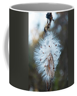 Coffee Mug featuring the digital art Milkweed And Its Seeds by Chris Flees