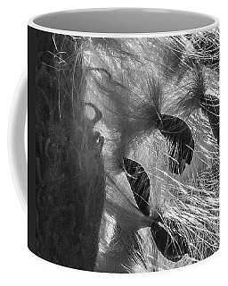 Milkweed Sunburst In Black And White Coffee Mug