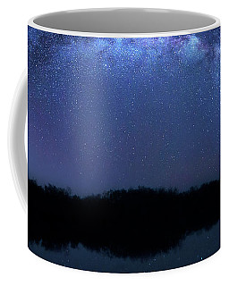 Coffee Mug featuring the photograph Milky Way At Mrazek Pond by Mark Andrew Thomas