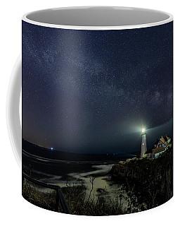 Milky Way At Portland Head Light Coffee Mug