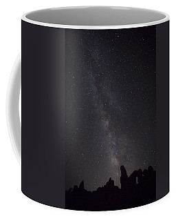Milky Way Galaxy At Arches National Park Coffee Mug