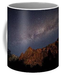 Milky Way Galaxy Over Zion Canyon Coffee Mug