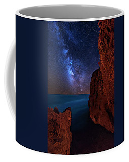 Milky Way Over Huchinson Island Beach Florida Coffee Mug