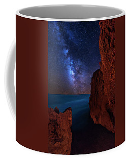 Coffee Mug featuring the photograph Milky Way Over Huchinson Island Beach Florida by Justin Kelefas