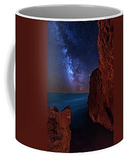 Milky Way Over Huchinson Island Beach Florida Coffee Mug by Justin Kelefas