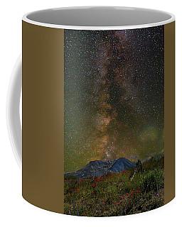 Milky Way Over Mount St Helens Coffee Mug