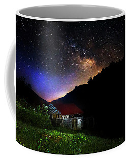 Milky Way Over Mountain Barn Coffee Mug