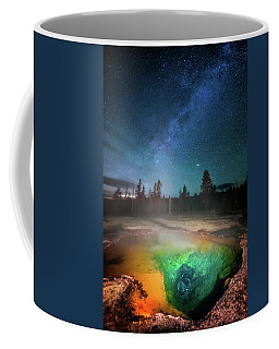 Coffee Mug featuring the photograph Milky Way Thermal Pool by Darren White