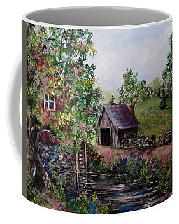 Mill Pond Road Coffee Mug by Megan Walsh