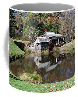 Coffee Mug featuring the photograph Mill Reflections by Eric Liller