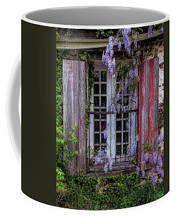 Mill Window Framed By Wisteria  Coffee Mug