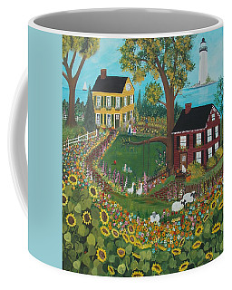 Coffee Mug featuring the painting Millefiori by Virginia Coyle