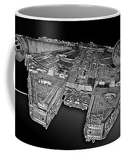 Millennium Falcon Attack Coffee Mug by Kevin Fortier