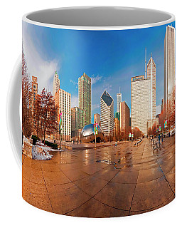 Millennium Park Skyline And The Bean  Coffee Mug